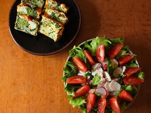 ケークサレとサラダ