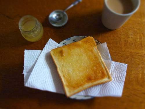 梨じゃむ朝ご飯