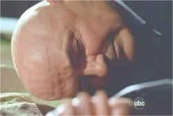 ベンの前に横たわっている、ロックの遺体