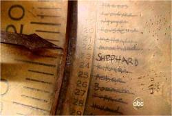 針がさしたシェパードの文字