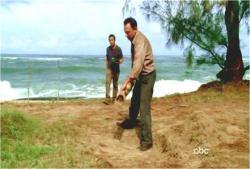 自分の入る墓を掘っているベン