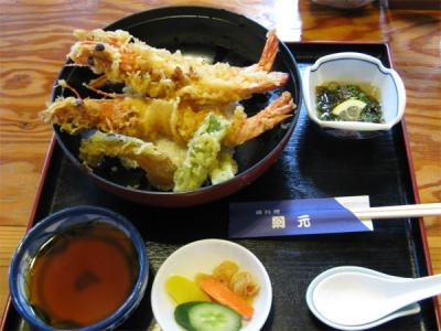 青島で天丼