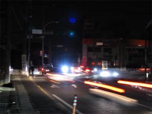 停電の府中街道