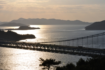 鷲羽山展望台より瀬戸大橋・・・3日