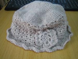 毛糸の帽子完成