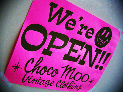 CHOCO MOO WE'RE OPEN !!