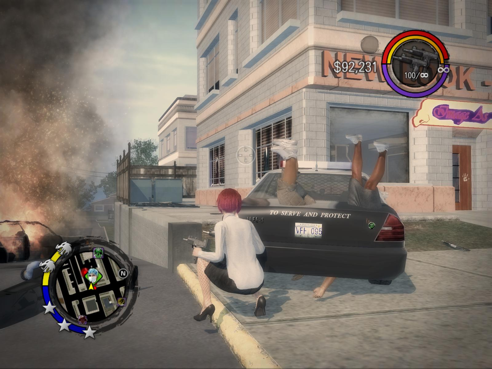 PC,steam,Saints Row 2,ゲーム画面,大変な事になってます