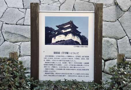 関宿城看板
