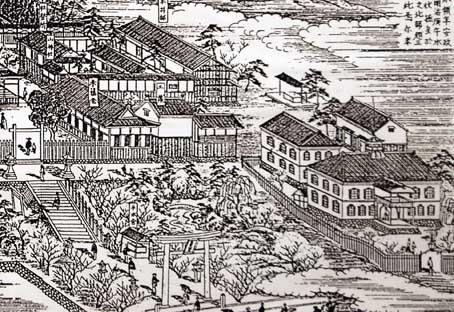 旧小田小-平井神社絵図