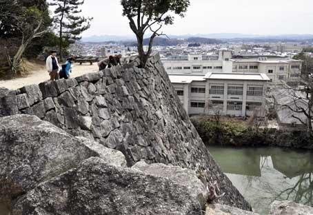 上野城高石垣