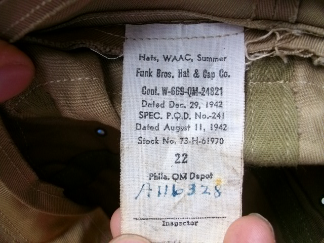 WAAC HAT   USNAVY RING 022