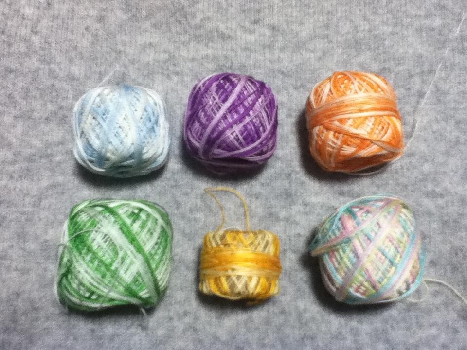 カラフルレース糸