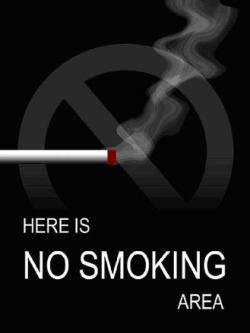 HERE IS NO SMOKING AREA