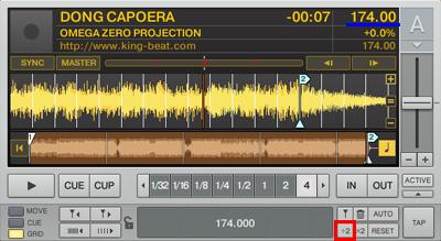 DJ練習番外その2:BPM表示とBPM半減ボタン