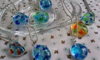 琉球ガラスと星の砂