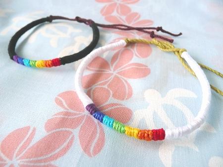 チャリティーミサンガ『虹』