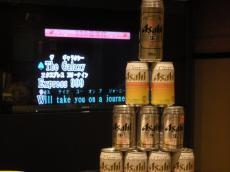 缶タワー・・・