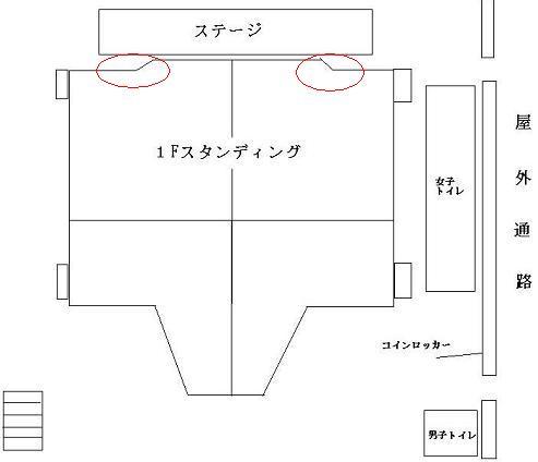 赤坂BLITZ 見取り図 コムタローが狙う場所はここだ!