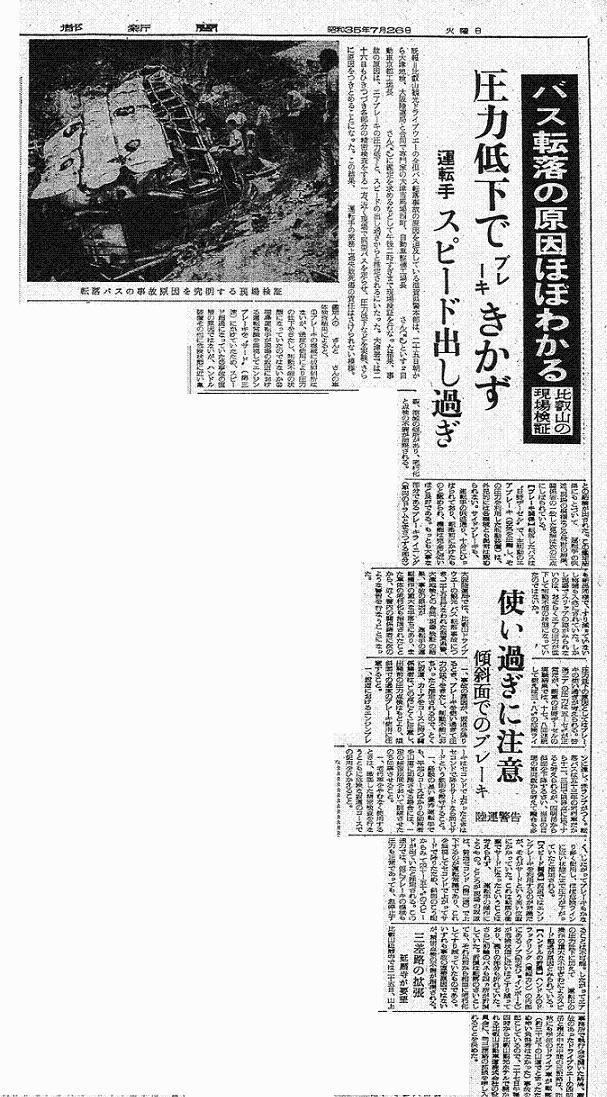 S35.7.26 K 比叡山バス転落事故現場検証