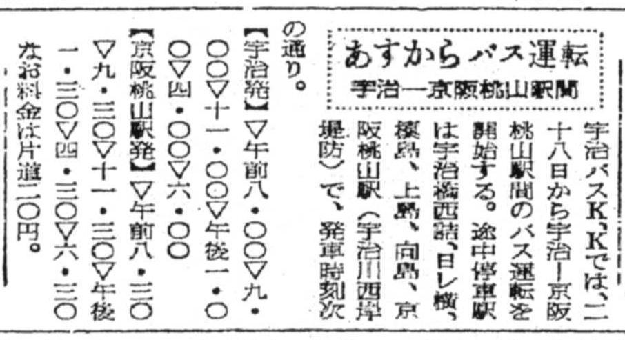 S26.11.27KY 宇治バス宇治‐桃山間開通b