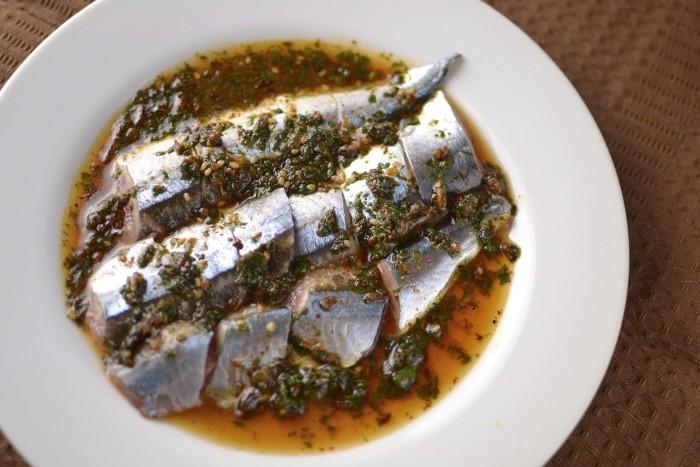 秋刀魚のピリ辛酢漬け