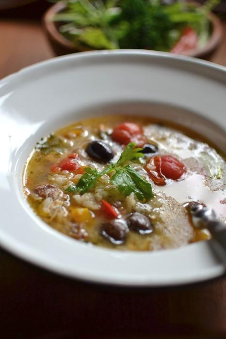 鯛のアクアパッツァ雑炊
