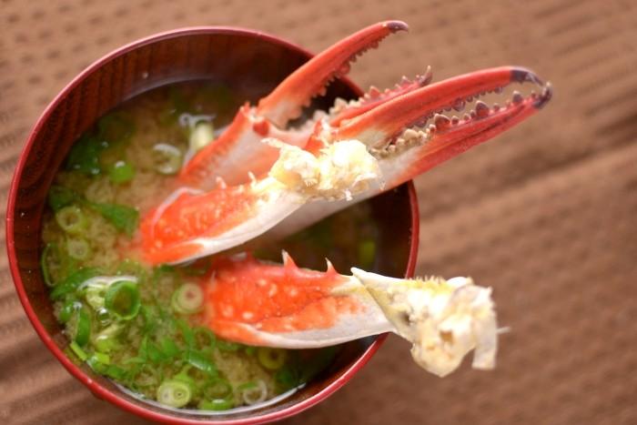 渡り蟹の味噌汁