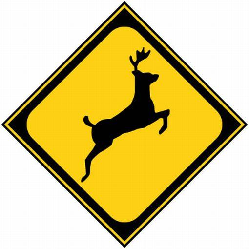 動物飛び出し注意 標識