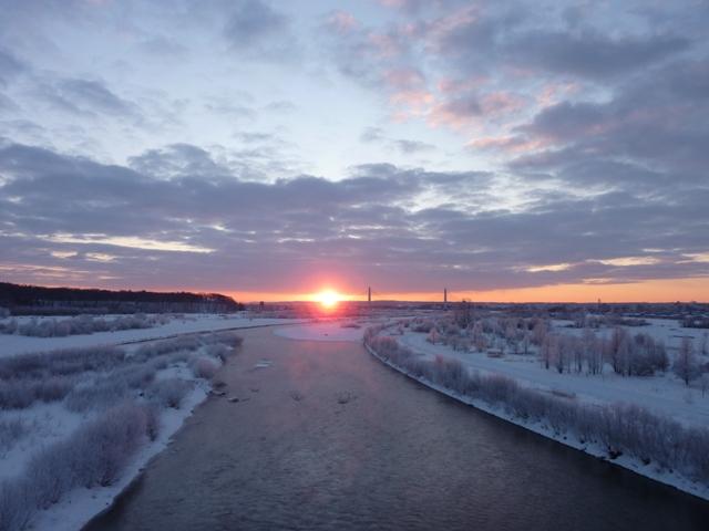 135厳寒と日の出