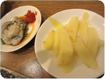 カキ酢、新生姜