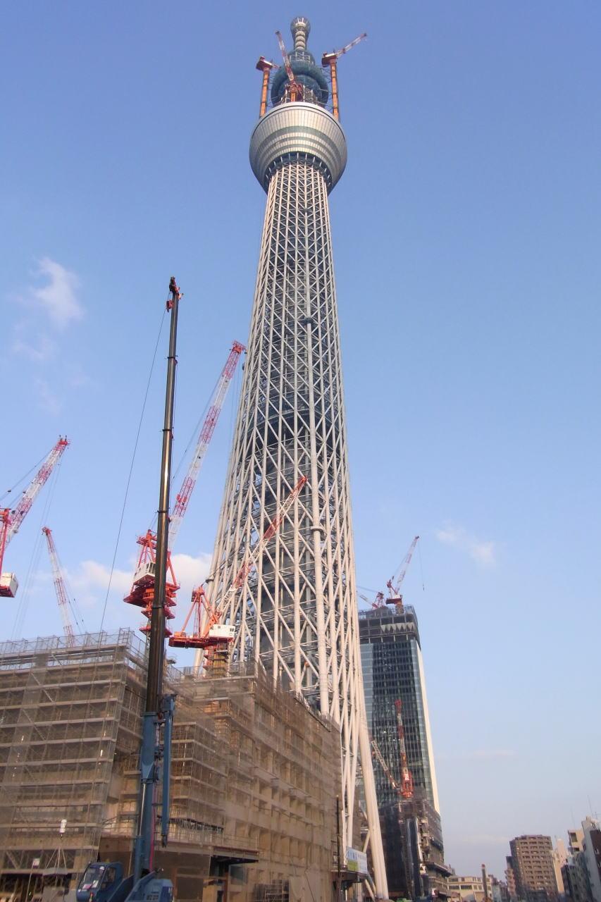 東武橋から見上げるスカイツリー