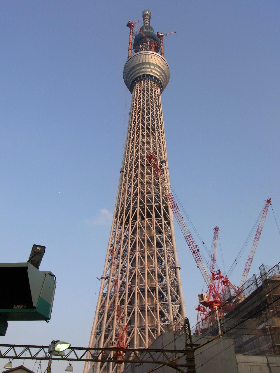 業平橋駅ホームから撮影