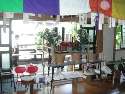平成23年の大安寺の施食棚