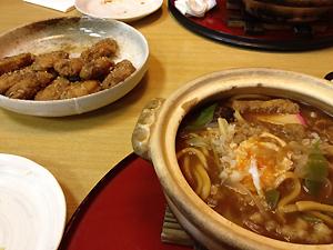 「サガミ」の味噌煮込みうどんと手羽先☆