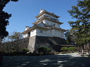 小田原城の天守閣。