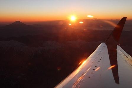 2011年高度6100メートルからの初日の出