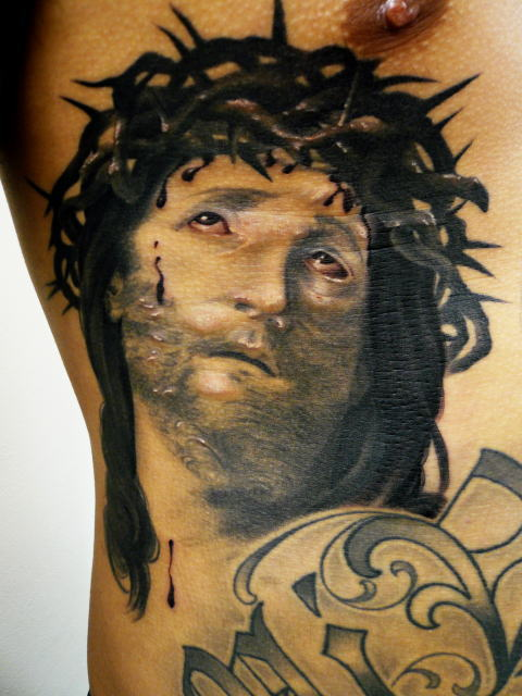 TATTOO KOBAYASHI BLACK&GRAY JESUS DAYOFTHEDEAD