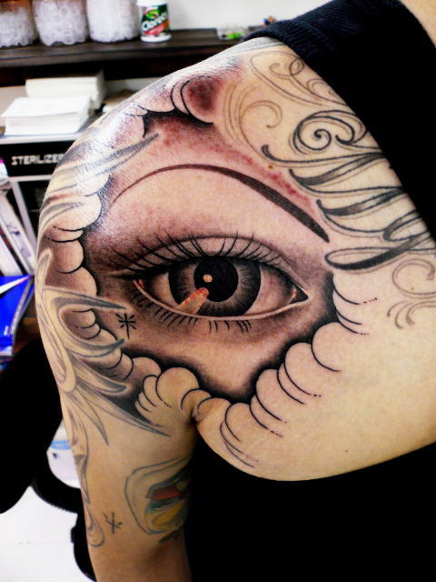 TATTOO KOBAYASHI BLACK&GRAY EYE DAYOFTHEDEAD