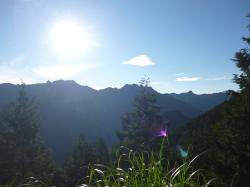 登山道(川合から弥山へ)