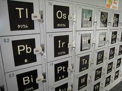 元素記号のコインロッカー