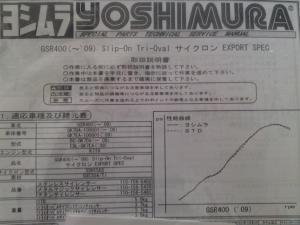 ヨシムラ Slip-On Tri-Ovalサイクロン EXPORT SPEC②