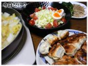 ホワイト餃子 2月21日の晩御飯