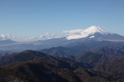 鍋割山と富士 塔ノ岳にて