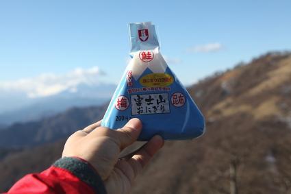 富士山おにぎり 丹沢山にて