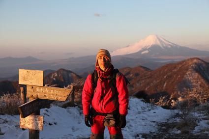 蛭ヶ岳頂上にて記念撮影