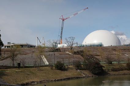 モリコロパーク 建設中の施設
