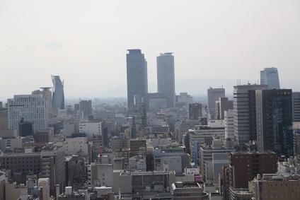 テレビ塔から名古屋駅方面を望む