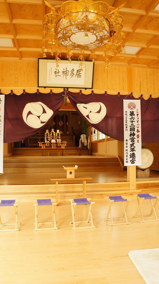 居多神社本殿の中