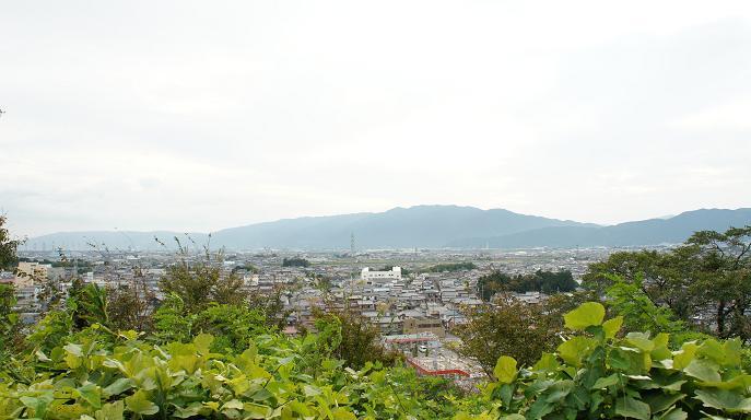 安楽寺裏の山頂から大垣市内