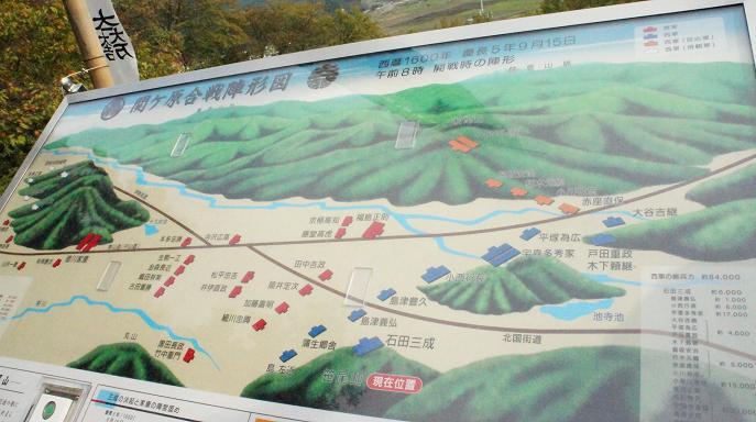 関ヶ原の配置図